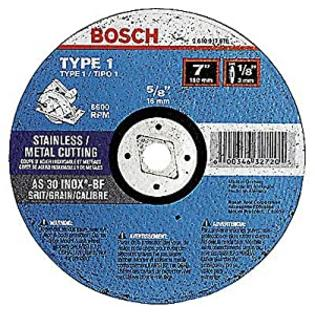 Bosch CC1MC700 7-Inch by 1/8-Inch A/CS30R-BF Grit Multi-Material Cutting Abrasive Wheel with 5/8-Inch and Diamond Knockout Arbor at Sears.com
