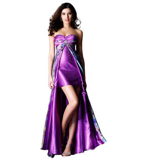 Clarisse Purple Print High Low Prom Dress at Sears.com