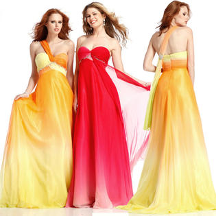 Clarisse One Shoulder Long Ombre Formal Prom Dress 1351 at Sears.com