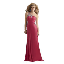 Clarisse One Shoulder Stretch Jersey Beaded Bridesmaid and Prom Dress 2381 at Sears.com
