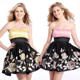 Clarisse A Clarisse Floral Strapless Homecoming Dress 1329 at Sears.com