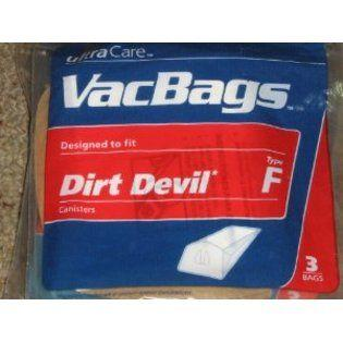 UltraCare Sears Dirt Devil Type F Canisters Vacuum Vac 3 Bags UltraCare at Sears.com