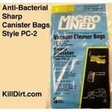 Sharp Canister Type PC-2 Anti-Bacterial Vacuum Bags - 3 Pack at Sears.com