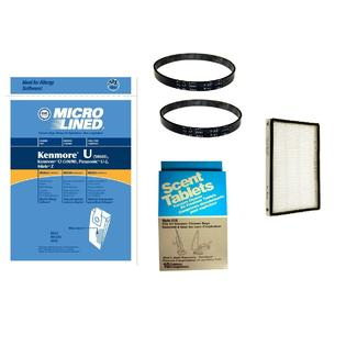 Envirocare For Kenmore Progressive Uprights 10 Bags, Filters Belt & Scent Tab ComboType U Bags, 1 EF, 2 UB1, and 10 Scent Tabs at Sears.com