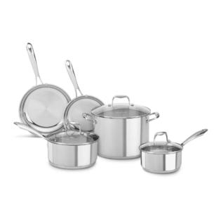 KitchenAid Stainless Steel 8-Piece Cookware Pots and Pans Set KCSS08LS at Sears.com