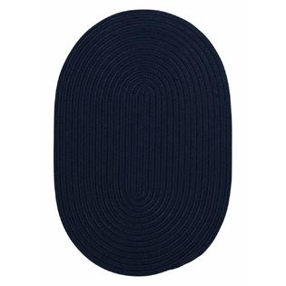 Super Area Rugs 2ft. x 3ft. Oval Indoor/Outdoor Reversible Braided Rug Navy Color (2x3) at Sears.com