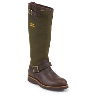 "Chippewa Men's 17"" Briar Pitstop Plain Toe Snake Boots Made in USA 25110 (EE) at Sears.com"