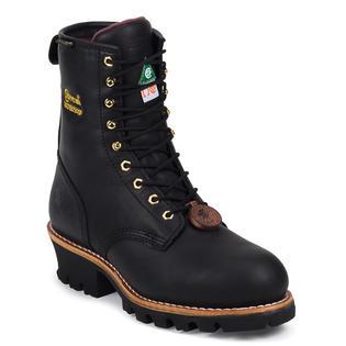 Chippewa Men's Chippewa Insulated Waterproof Steel Toe Logger Boot Black CA73050 Wide