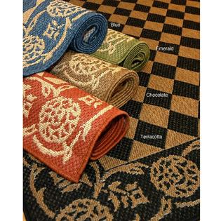 AT HOME by O Diamond Indoor/ Outdoor Polypropylene Area Rug (9'6 x 12'9) at mygofer.com