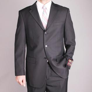 Oliver & James Giorgio Fiorelli Men's Black 3-button Suit at mygofer.com
