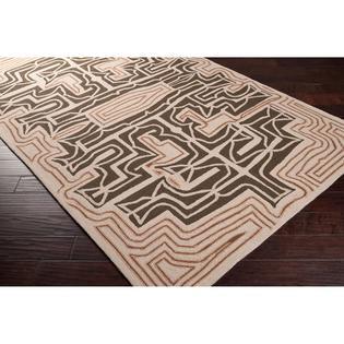 Surya Hand-hooked Yarra Brown Indoor/Outdoor Geometric Rug (5' x 8') at Sears.com