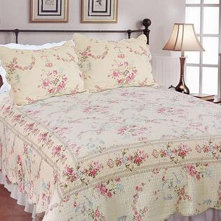 AT HOME by O Rose Romance Floral-patterned Cotton Full/Queen-size Quilt Set at Sears.com