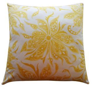 Overstock.com Jiti 'Flucci' Yellow 26-inch Pillow