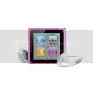 Apple REFURBISHED Apple iPod nano 8GB MP3 Player (6th Generation) with Touch Screen, FM Radio - Pink (MC692LL/A)