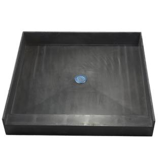 Tile Redi 4848CBO Shower Pan with Integrated Center PVC Drain, 48-Inch Depth by 48-Inch Width at Sears.com