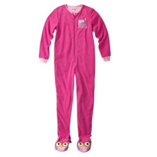 Nick & Nora Womens Pink Fleece Owl Footie PJ Blanket Sleeper Union Suit Pajamas at Sears.com