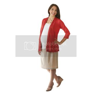 Ashley Nicole Maternity Drape Front Cardigan in Cream at Sears.com