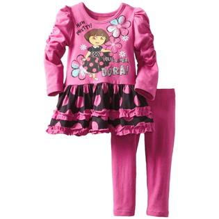 Nickelodeon Infant Baby Girls 2 Piece Dora the Explorer Tunic Top Leggings at Sears.com