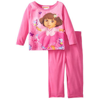 Nickelodeon Dora the Explorer Toddler Girls 2 Piece Pink Pajama Pants Set at Sears.com