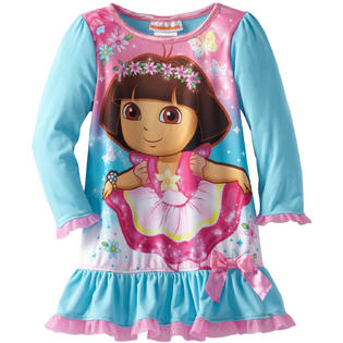Nickelodeon Dora the Explorer Toddler Girls 1 Piece Pink Blue Nightgown at Sears.com
