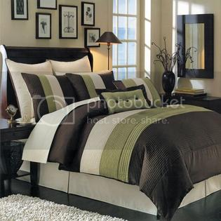 A Bedding Hudson Sage Luxury 8-Piece comforter Set Bed in a Bag at Sears.com