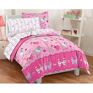Kids Bedding Magical Princess & Castles Pink Girls Twin Comforter Set (5 Piece Bed In A Bag) at Sears.com