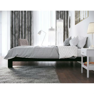 homepacific modern heavy duty low profile black metal platform bed frame 9 inch high