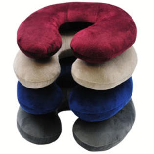 RoadPro Neck Pillow With Microfiber Cover, Assorted Colors at Sears.com