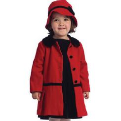 Infashionkids Toddler Coat Girls Red Peacoat And Hat