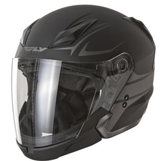 Fly Racing Tourist Street Motorcycle Helmet Vista Flat Black Silver Size X-Large at Sears.com