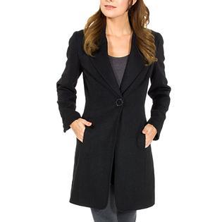 Alpine Swiss Womens Long Coat Dressy Jacket Single Button Overcoat Wool Blazer By AlpineSwiss at Sears.com