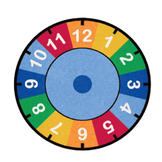 Learning Carpets Indoor Outdoor Children Playtime Rug Clock - CPR530 Round 9' at Sears.com