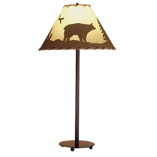 """Meyda Home Indoor Bedroom Decorative 29""""H Bear In The Woods Painted Table Lamp Bronze at Sears.com"""
