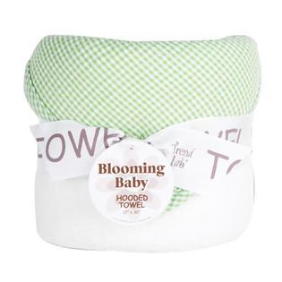 Trend Lab Kids Bouquet Hooded Towel - Gingham Seersucker Sage
