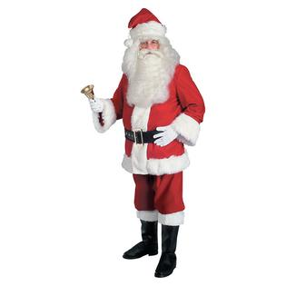 Rubie's Costume Co Super Deluxe Velvet Santa Suit Adult Men Red Claus Satin Lined Christmas Costume at Sears.com