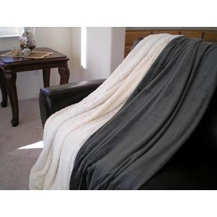 OctoRose � SUPER SOFT Queen FAUX FUR / MICRO FIBER BLANKET / Bedspread / Throw - Olive Green at Sears.com