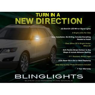 blinglights Saab 9-4X 94X LED Side Mirror Turnsignals Markers Turn Signals Lights Signalers Lamps LEDs at Sears.com