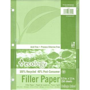 Pacon Corporation ECOLOGY RECYCLED FILLER PAPER 150SH at Sears.com