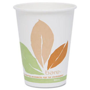 MotivationUSA * Bare PLA Hot Cups, White w/Leaf Design, 12 oz., 300/Carton at Sears.com