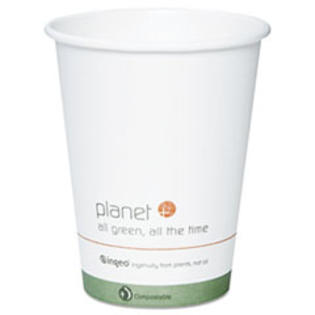 MotivationUSA * Planet+ Hot Cup, 12 oz, White w/logo, 500/Carton at Sears.com