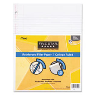 MotivationUSA * Reinforced Filler Paper, 20-lb., College-Ruled, 11 x 8-1/2, White, 100 at Sears.com
