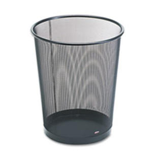 MotivationUSA * Wastebasket, Round, Wire Mesh, 11 1/2 dia x 14 1/4 h, Black at Sears.com