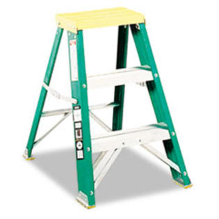 MotivationUSA * #624 Folding Fiberglass Locking Two-Step Stool, 17w x 22 Spread x 24h, at Sears.com