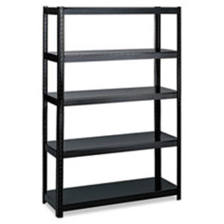 COU ** Boltless Steel Shelving, 5 Shelves, 48w x 24d x 72h, Black at Sears.com