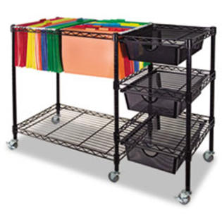 COU ** Mobile File Cart w/Drawers, 38w x 15-1/2d x 28h, Black at Sears.com