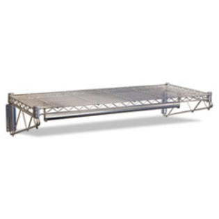 COU ** Steel Wire Wall Shelf Rack, 48w x 18-1/2d x 7-1/2h, Silver
