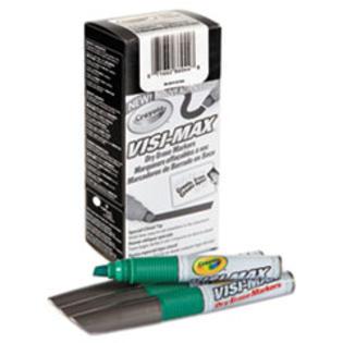 COU Dry Erase Marker, Chisel Tip, Green, Dozen
