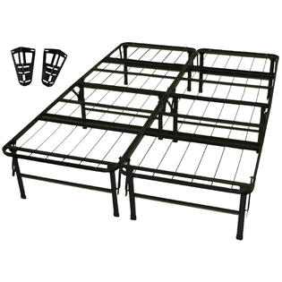 GreenHome123 Full size Metal Platform Bed Frame with Headboard Brackets at Sears.com