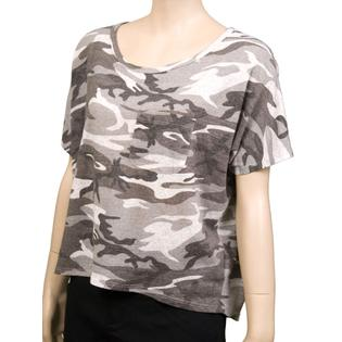 Audrey 3+1 Army Print S/S Womens T Shirts Gray Size S ~ at Sears.com
