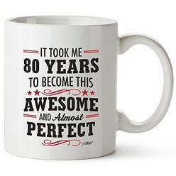 LiliWair 80th Birthday Gifts For Women Eighty Years Old Men Gift Happy Funny 80 Mens Womens
